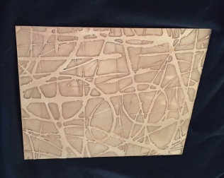 Etched new gold artwork